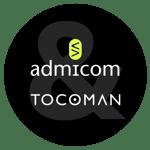 Admicom&Tocoman-yhteislogo