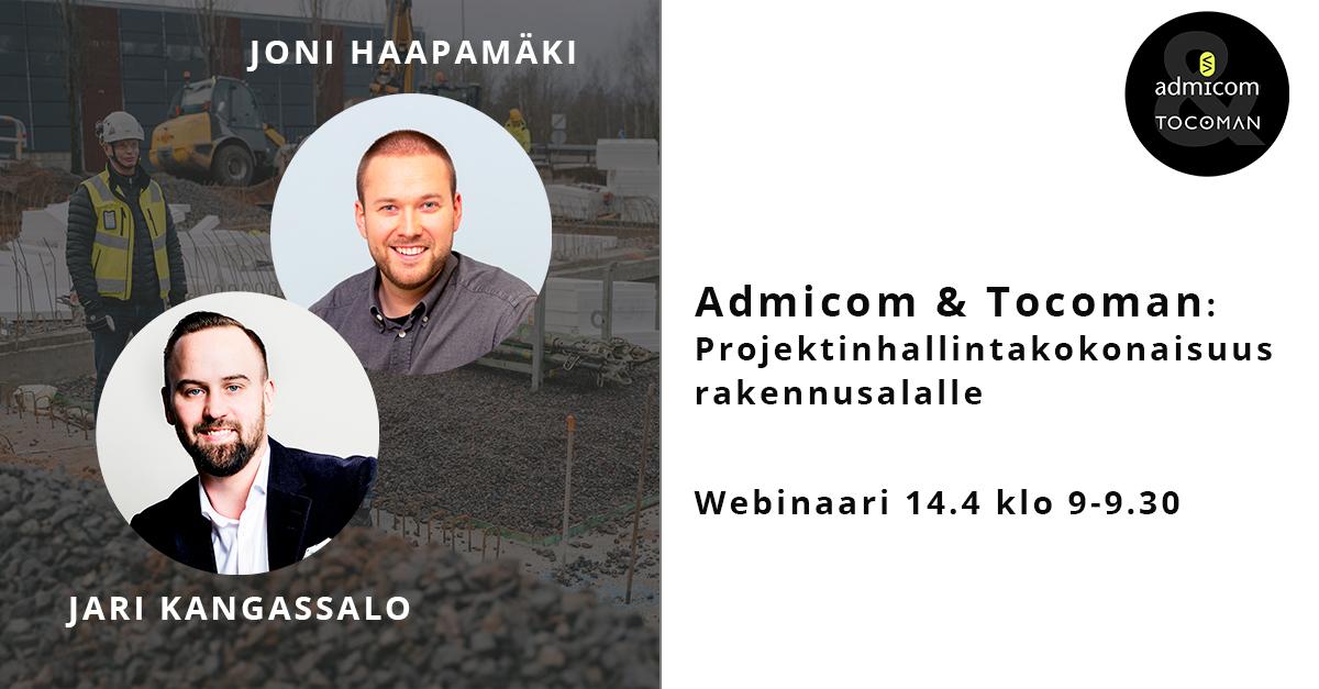Admicom-Tocoman webinaari 14.4