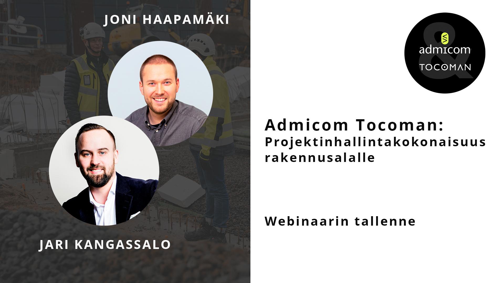 Admicom-Tocoman webinaari